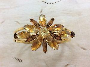 【送料無料】ブレスレット アクセサリ― アレックスクリスタルヒンジブレスレットalex and ani *rare* yellow colored crystals jeweled hinged bracelet