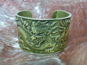 【送料無料】ブレスレット アクセサリ― ブロンズゴールデンビンテージカフブレスレットchinese cuff bracelet in bronze golden vintage