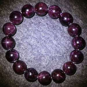 【送料無料】ブレスレット アクセサリ― スターライトガーネットラウンドビーズブレスレットクリアgenuine natural star light garnet crystal clear round beads bracelets 12mm aaa