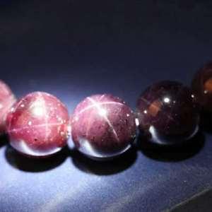 【送料無料】ブレスレット アクセサリ― スターライトガーネットラウンドビーズブレスレットgenuine natural star light garnet crystal woman round beads bracelets 12mm aaa