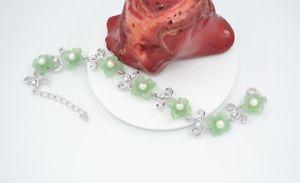 【送料無料】ブレスレット アクセサリ― スターリングシルバーグリーンヒスイブレスレット925 sterling silver cz freshwater green jade 72585 bracelet br840