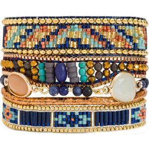 【送料無料】ブレスレット アクセサリ― スラズリマルチストランドブレスレット hipanema lazuli multi strand bracelet