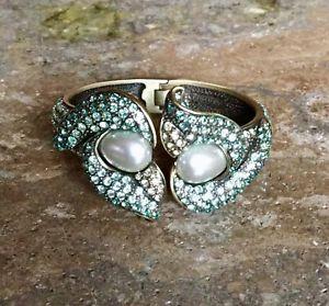 【送料無料】ブレスレット アクセサリ― ハイジユリスワロフスキークリスタルカフブレスレットheidi daus calla lily swarovski crystal cuff bracelet ret spectacular