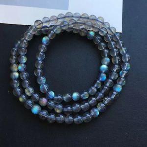 【送料無料】ブレスレット アクセサリ― ラウンドビーズブレスレットクリアnatural labradorite blue light crystal round clear round beads bracelet 55mm