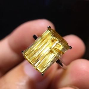 【送料無料】ブレスレット アクセサリ― ×ルチルチタンリング125*9mm natural gold rutilated titanium quartz crystal ring aaaa