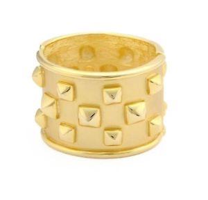 【送料無料】ブレスレット アクセサリ― ケネスジェイレーンgoldplatedピラミッドカフスブレスレットauthentic kenneth jay lane polished goldplated pyramid cuff bracelet