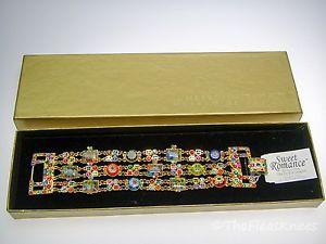 【送料無料】ブレスレット アクセサリ― ロマンストリプルブレスレットボックスsweet romance millefiori triple bracelet discontinued, in box