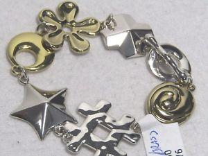 【送料無料】ブレスレット アクセサリ― スターリングシンボルリンクブレスレット listingrlm studio sterling amp; brass symbol link bracelet 7