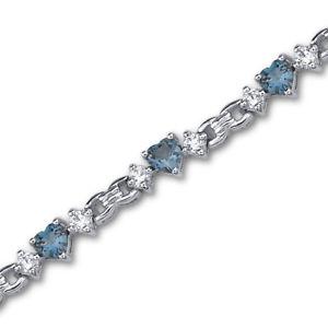 【送料無料】ブレスレット アクセサリ― 45 ctロンドントパーズスターリングブレスレット45 ct heart london blue topaz sterling silver bracelet