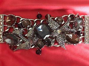 【送料無料】ブレスレット アクセサリ― ジョンソンアメジストブレスレットbetsey johnson huge amethyst purple crystal jewel tattoo sparrow bird bracelet
