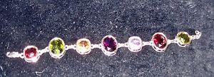 【送料無料】ブレスレット アクセサリ― ユニークブレスレットunique sterling silver gemstone bracelet