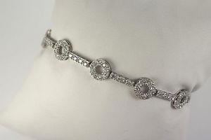 【送料無料】ブレスレット アクセサリ― 925 スターリングczリンクブレスレット75925 sterling silver circle bar cz link bracelet 75