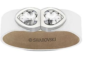 【送料無料】ブレスレット アクセサリ― スワロフスキーハートブレスレットクリアクリスタルホワイトswarovski heart usb bracelet, clear crystal, m white calfskin, 8gb, mib 5064561