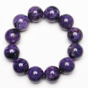 【送料無料】ブレスレット アクセサリ― 183mmcharoiteブレスレットzlbb007183mm natural purple charoite crystal gemstone stretch beads bracelet zlbb007