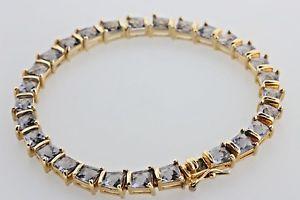 【送料無料】ブレスレット アクセサリ― ゴールドスターリングシルバーヒンジタンザナイトテニスブレスレットgold vermeil sterling silver hinged trapezoid tanzanite tennis bracelet 75