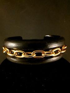【送料無料】ブレスレット アクセサリ― ゴールドチェーンカフブレスレットalexis bittar carved luxe blk lucite amp; gold chain cuff bracelet