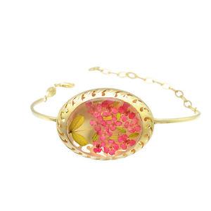【送料無料】ブレスレット アクセサリ― イェローゴールド925スターリングブレスレットyellow gold plated 925 sterling silver adjustable chain floral bracelet