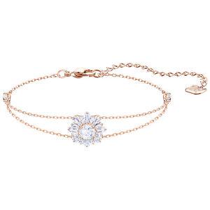 【送料無料】ブレスレット アクセサリ― スワロフスキーサンシャインブレスレットホワイトローズゴールドメッキドルswarovski 5451357 sunshine bracelet, white, rose gold plating rrp 149