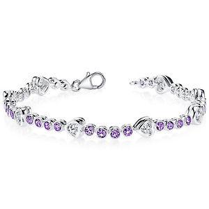 【送料無料】ブレスレット アクセサリ― 3 アメジストスターリングブレスレットct3 ct round purple amethyst sterling silver bracelet