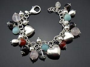 【送料無料】ブレスレット アクセサリ― 925 スターリングブレスレットユニークファッションデザイナー8 53グラム925 sterling silver charm bracelet unique nice fashion designer 8 53 gram heart