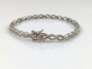【送料無料】ブレスレット アクセサリ― アルジェントマッシフインフィニティブレスレットen argent sterling 925 authentique massif femmes ligne infinity bracelet 191cm