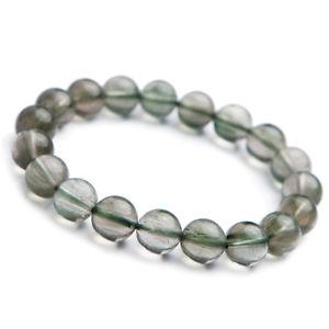 【送料無料】ブレスレット アクセサリ― グリーンルチルビーズブレスレット listingnatural green rutilated quartz crystal cat eye woman beads bracelet 10mm aaaa