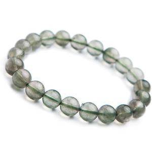 【送料無料】ブレスレット アクセサリ― グリーンルチルラウンドビーズブレスレット listingnatural green rutilated quartz crystal cat eye round beads bracelet 9mm aaa