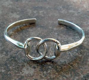 【送料無料】ブレスレット アクセサリ― ソリッドスターリングシルバービットカフブレスレットclassy solid argentium sterling silver equine horse snaffle bit cuff bracelet
