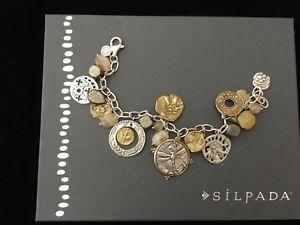 【送料無料】ブレスレット アクセサリ― コンポジションブレスレットドルディスクドルnib silpada perfect composition charm bracelet b3078 22900disc to 11000