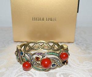 【送料無料】ブレスレット アクセサリ― ドルハイジエイムコーラルビーズクリスタルカフブレスレットnib 180 heidi daus je taime coral bead crystal cuff bracelet sm love