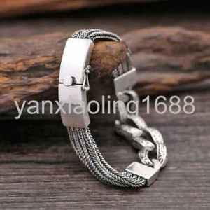 【送料無料】ブレスレット アクセサリ― スターリングシルバーファッションワイドクロスレースブレスレットpure s925 sterling silver fashion wide cross lace mans bracelet