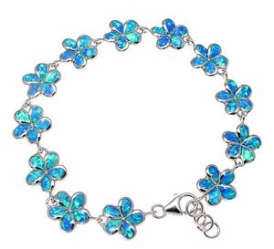 【送料無料】ブレスレット アクセサリ― 925 sterlinginlay opal 12mm hawaiian plumeria flowerbracelet 75925 sterling silver inlay opal 12mm hawaiian plumeria flowe