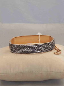 【送料無料】ブレスレット アクセサリ― ミハエルローズゴールドステンレススイングクッションブレスレットドルmichael kors rose gold stainless pave hinged cushion bracelet mkj4584 791 175