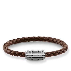 【送料無料】ブレスレット アクセサリ― トーマスブレスレットレザーブラウンシルバーthomas sabo bracelet leather brownsilver ub00198232l19