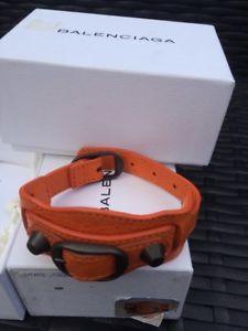 【送料無料】ブレスレット アクセサリ― オレンジブレスレットbnib orange balenciaga leather bracelet sold out