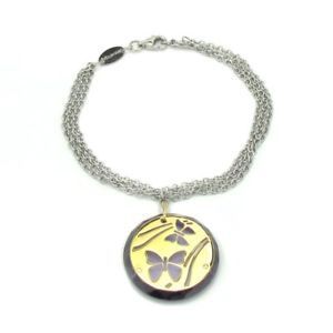 【送料無料】ブレスレット 0317 steel bracelet insects ブレスレットステンレススチールwomen stainless nomination アクセサリ―
