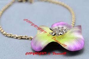 【送料無料】ブレスレット アクセサリ― ドルオーキッドィーリアパンジースワロフスキークリスタルブレスレット175 alexis bittar orchid ophelia goldtone pansy swarovski crystal bracelet