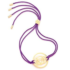 【送料無料】ブレスレット アクセサリ― デイジーロンドンケーブルチャクラブレスレットdaisy london purple cord gold plated brow chakra bracelet