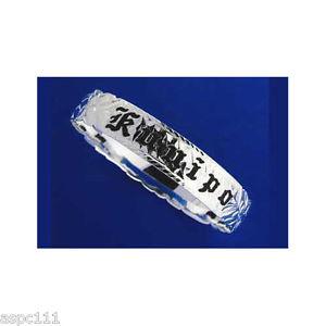 【送料無料】ブレスレット アクセサリ― アルジェントエッジargento 925 hawaiano bracciale rigido smalto nero kuuipo scorrere forma edge