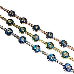 【送料無料】ブレスレット アクセサリ― スターリングシルバーターコイズガラステニスブレスレットsterling silver turquoise glass evil eye tennis bracelet btg