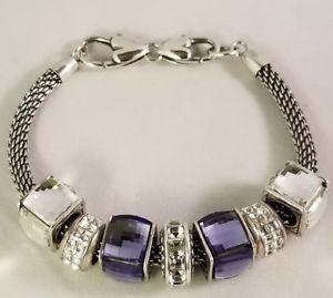 【送料無料】ブレスレット アクセサリ― ブライトンブレスレットアイスキューブスワロフスキークリスタルbrighton silver charm bracelet amp; ice cube charms lot w swarovski crystals
