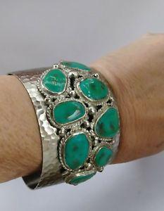 【送料無料】ブレスレット アクセサリ― ワイドシルバートーンターコイズブレスレットカフbenamun large wide silver tone and turquoise bracelet cuff