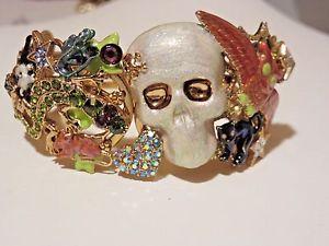 【送料無料】ブレスレット アクセサリ― スケルトンヒンジカフブレスレットkirks folly skeleton menagerie hinge cuff bracelet nwot