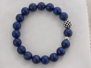 【送料無料】ブレスレット アクセサリ― デザイナーラゴスラピスビーズブレスレットdesigner lagos ss lapis beaded bracelet