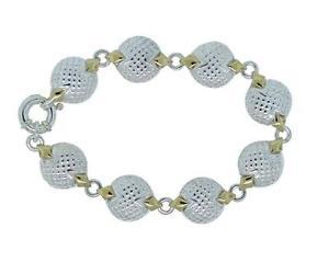 【送料無料】ブレスレット アクセサリ― ロレンツォスターリングシルバーコインリンクブレスレットlorenzo lnb337 womens sterling silver 18k coin link springring bracelet