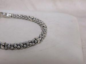 送料無料 ブレスレット アクセサリ― デザイナーラゴスキャビアビーズミリブレスレットdesigner lagos ss caviar beaded 4mm bracelet8nkPXOZw0N