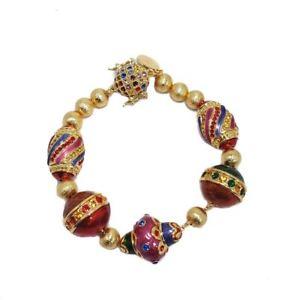 激安ブランド 【送料無料】ブレスレット アクセサリ― ジェイエナメルブレスレットjay strongwater holiday festive ornament bracelet with rhinestones and enamel, 【送料関税無料】 d23174a3