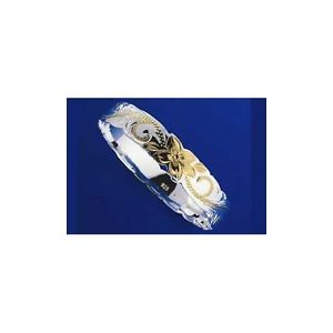 【送料無料】ブレスレット アクセサリ― アージェントブレスレットプルメリアトンargent 925 hawaen bracelet princesse plumeria volutes dcoupes 15mm 2 tons