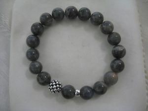 【送料無料】ブレスレット アクセサリ― デザイナーラゴスビーズブレスレットdesigner lagos ss labradorite beaded bracelet