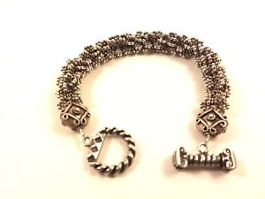 【送料無料】ブレスレット アクセサリ― ビンテージバリスターリングシルバートグルブレスレットvintage bali 925 sterling silver toggle bracelet